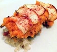 Zuurkoolschotel met zoete aardappel recept
