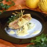 Rode mul met pastissabayon en gefrituurde schorseneren recept ...