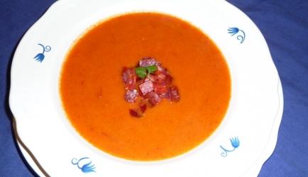 Paprika soep met chorizo recept