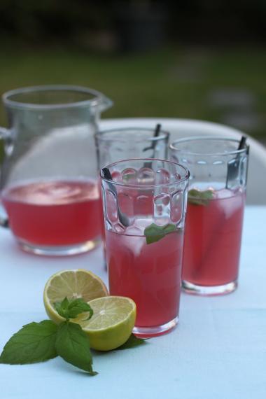Recept 'limonade van veenbessen met limoen'