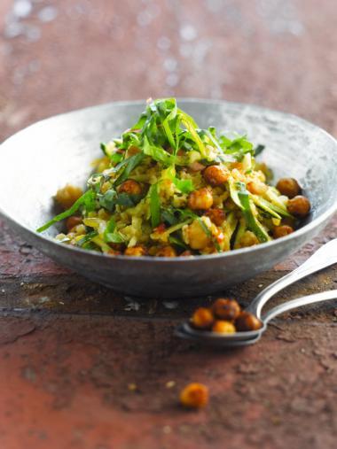 Recept 'bulgur met pittige kikkererwten'