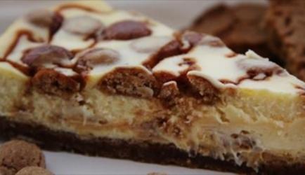 Overheerlijke witte chocolade cheesecake met kruidnoten en ...
