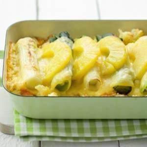 Ovenschotel met prei en ananas recept