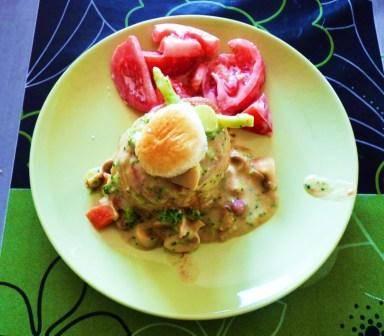 Koninginnenhapje met groentjes recept