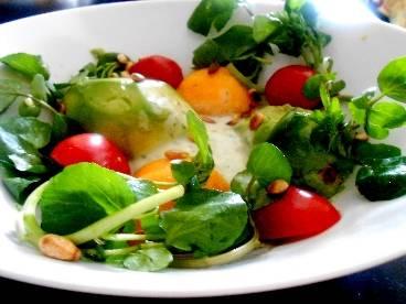 Waterkers salade met nectarine, avocado en muntdressing recept ...