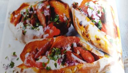 Spaans gevulde zoete aardappel recept