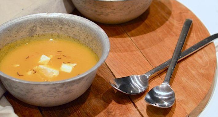 Zoete aardappelsoep à la nadia en merijn