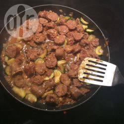Eenvoudige curry met worst recept