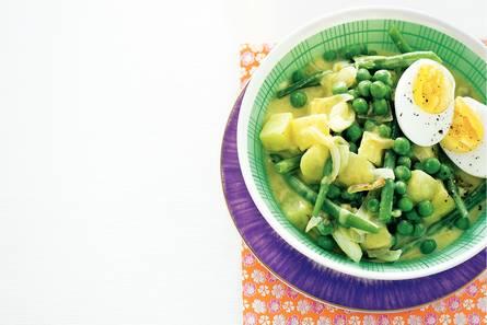 Aardappel-groentecurry
