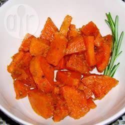 Gebakken zoete aardappel met gember en honing recept ...
