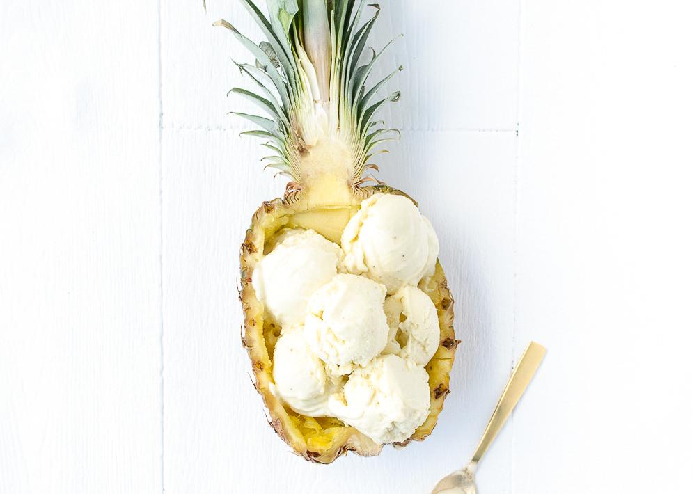 Ananas kokos ijs