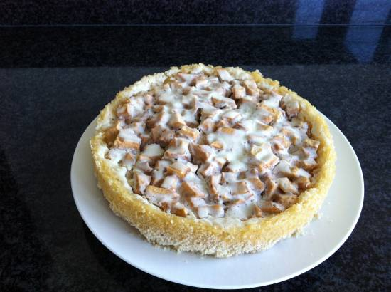 Romige appeltaart met een rijstbodem recept