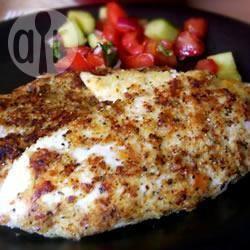 Gepaneerde kip met parmezaanse kaas recept