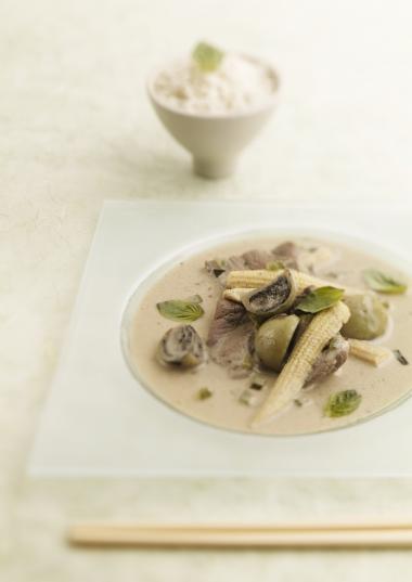 Recept 'groene curry met rundsvlees'