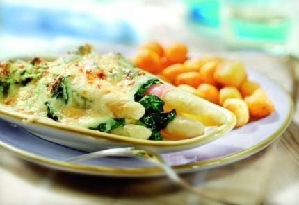 recept asperges spinazie