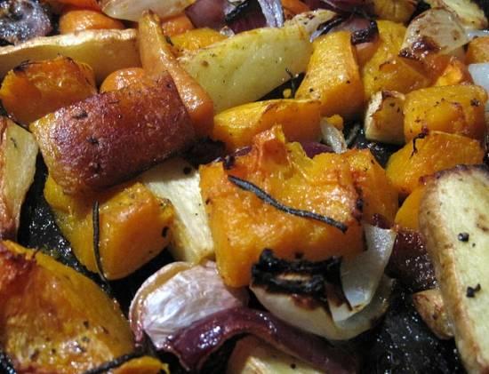 Oven geroosterde wintergroenten recept
