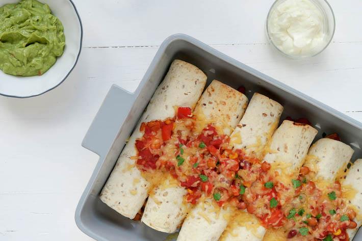 Fresh & easy: enchilada's met kip