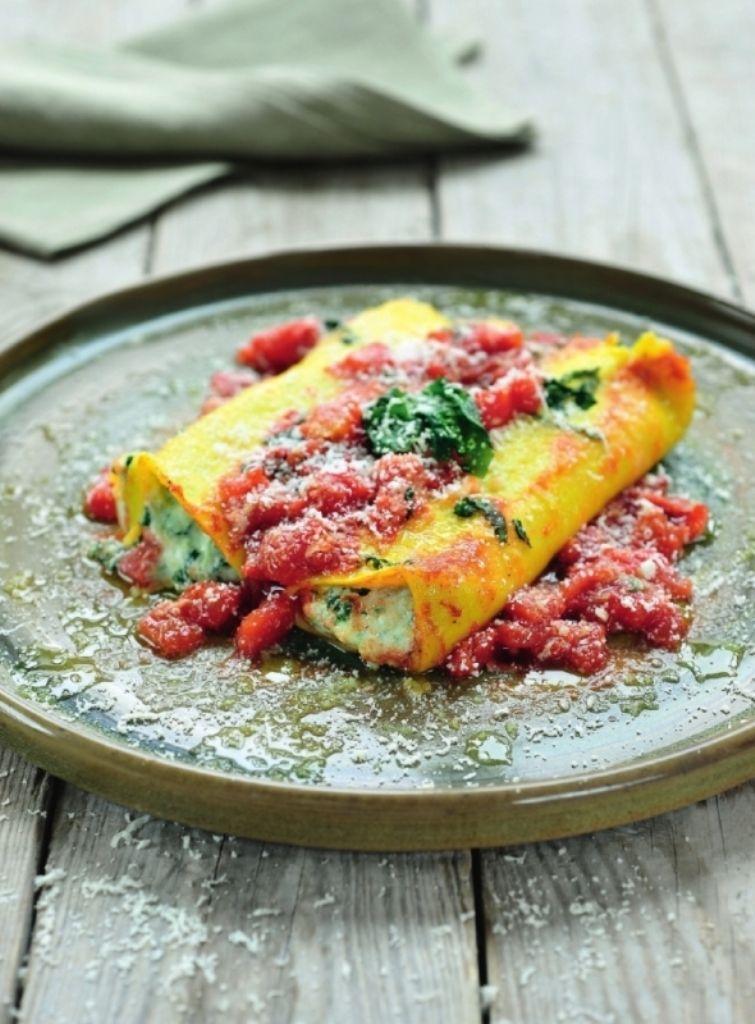 Recept 'cannelloni gevuld met ricotta en spinazie'