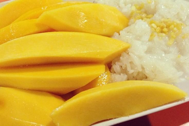 Thaise sticky rice met mango
