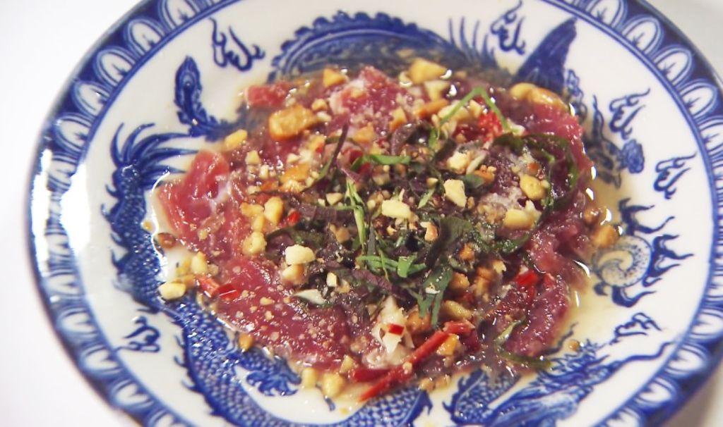 Recept 'carpaccio van rundsvlees op vietnamese wijze'