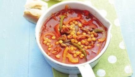 Spaanse maaltijdsoep met chorizo recept