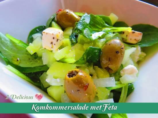 Komkommersalade met feta recept