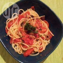 Aldo's spaghetti alla puttanesca recept