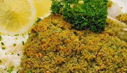 Super kabeljauw met kruidige, krokante korst recept