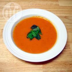 Romige tomaten-basilicum soep recept