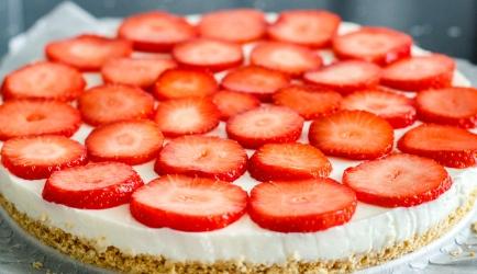 Citroenkwarktaart met aardbeien recept