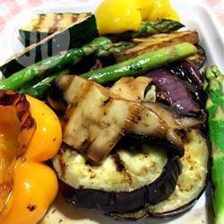 Mixed grill met aubergine recept