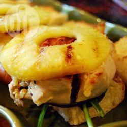Broodje gegrilde kip met ananas recept