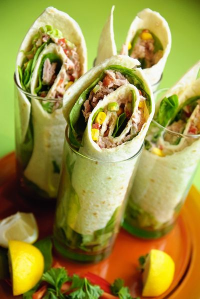 Recept 'knapperige tonijn wraps'