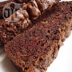 Chocoladecake met courgette recept