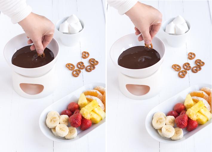 Kidsproof: chocoladefondue van leftover chocoladeletters