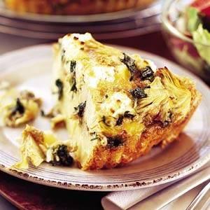 Frittata met aardappel, spinazie en artisjok recept