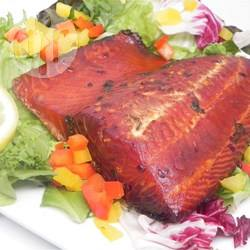 Zalm van de barbecue recept