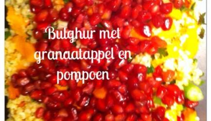 Bulghursalade met granaatappel & geroosterde pompoen recept ...