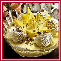 Abrikozenmousse met carambola recept