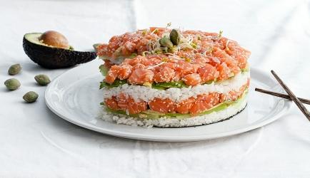 Sushi taart recept
