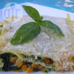 Lasagne met groenten en kaas recept