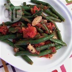 Haricots verts met amandelen recept