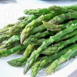 Gestoomde asperges recept