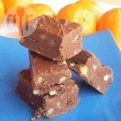 Chocolade-walnootfudge recept