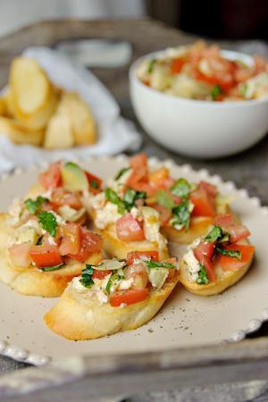 Recept 'tomaten bruschetta'