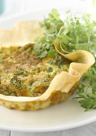 Recept 'veggie groentetaart met erwtjes en veel verse kruiden'