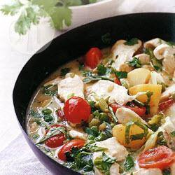 Snelle thaise kipcurry recept