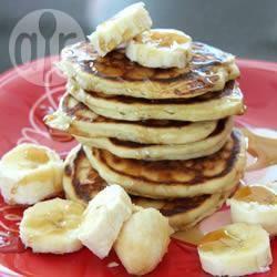 Eenvoudige bananenpannenkoeken recept