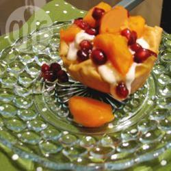 Filodeeg gebakjes met winterfruit, kaneel en griekse honingyoghurt ...