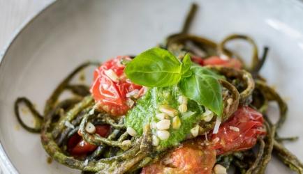 Pasta pesto met zeewierpasta recept